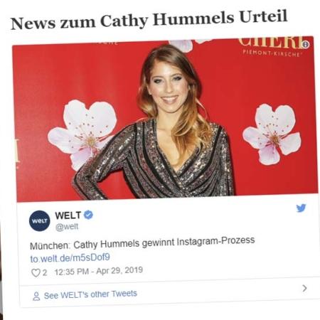 Cathy Hummels gana un juicio en Munich: Publicidad en Instagram - Sentencia