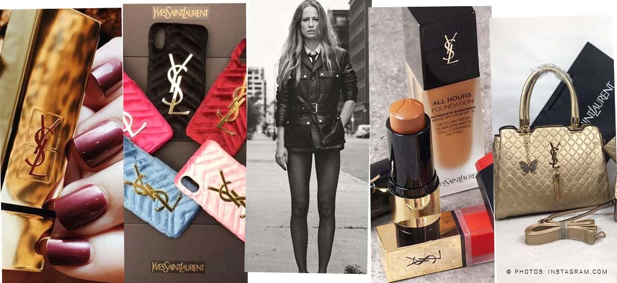 Yves Saint Laurent: Bolso, lápiz labial y perfume - tendencias también para hombres
