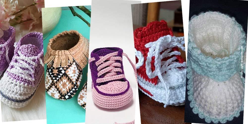 Tejer zapatillas de bebé: formación