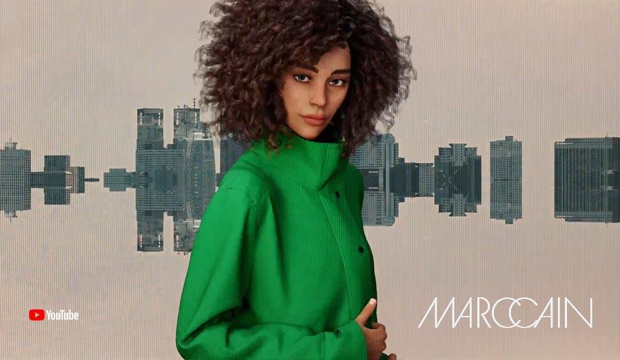 """¿Futuro desfile de moda? MarcCain """"Qué maravilla"""" En la Semana de la Moda de Berlín: ¡Wow! Realidad virtual"""