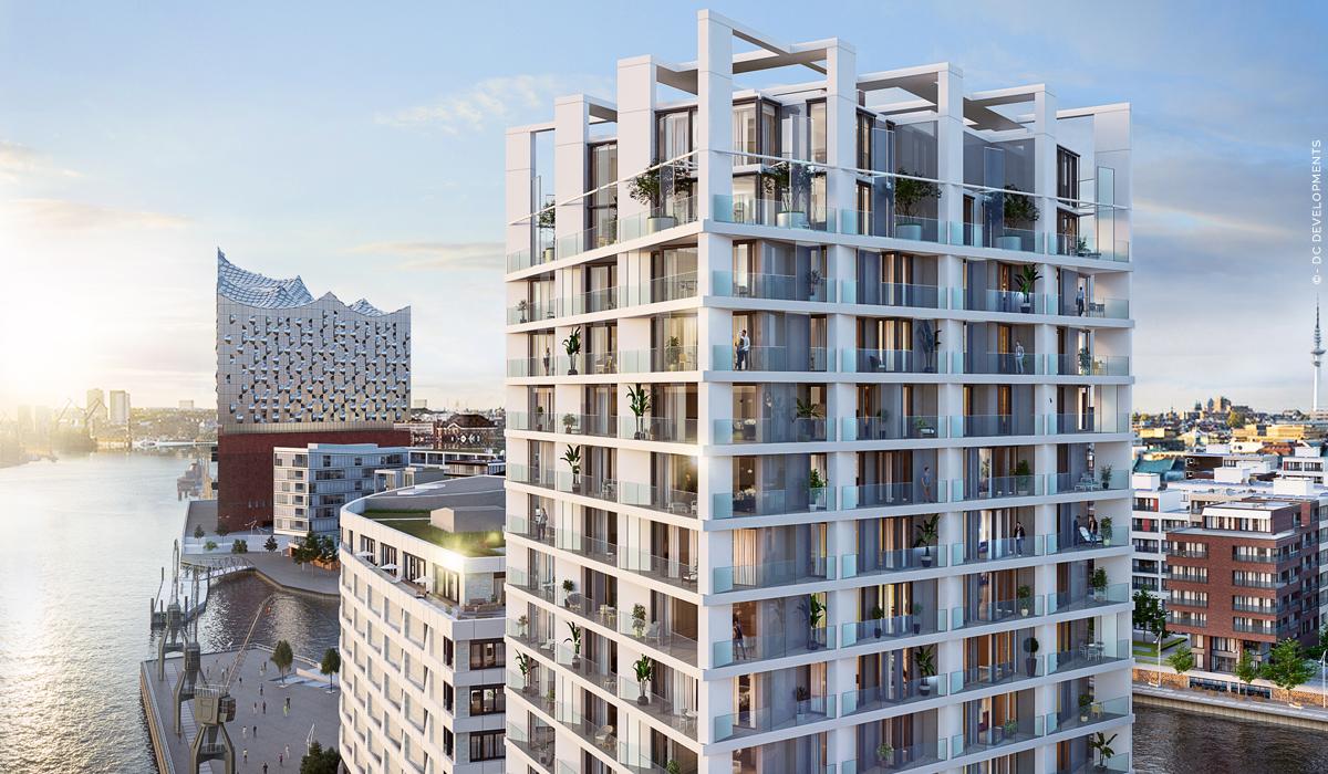 The Crown: Propiedades de lujo en HafenCity - ¡Condominios con vistas a la Elbphilharmonie! Nueva construcción