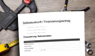 Autodeclaración para el banco: Compra de una casa y un piso – Sparkasse, Volksbank & Co.